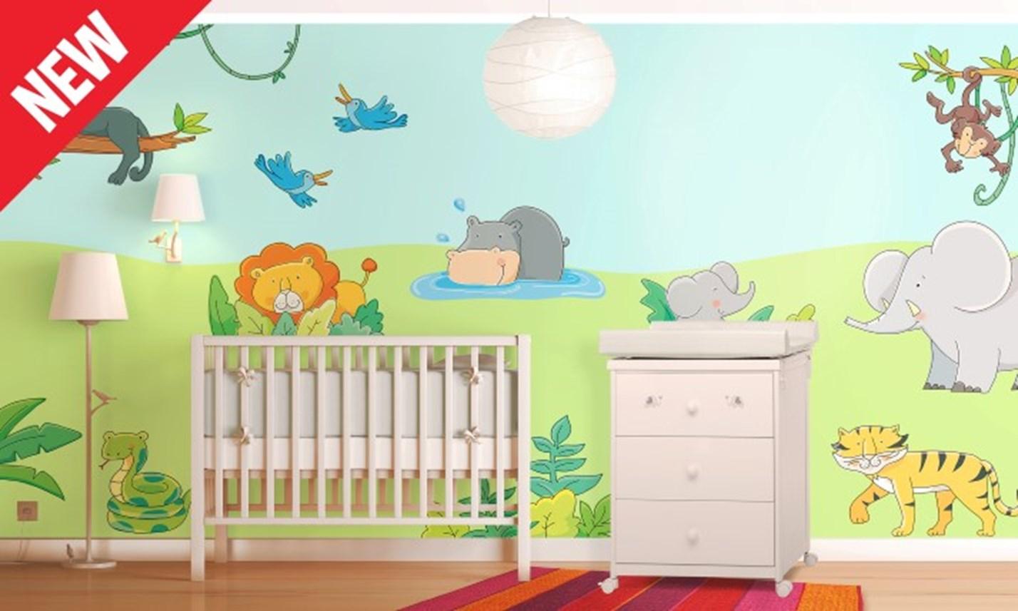 Stickers murali bambini cameretta il libro della giungla leostickers - Adesivi per mobili bambini ...